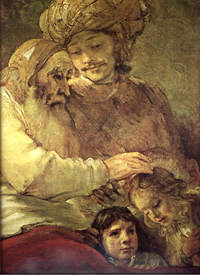 Rembrandt, Jacob blesses the sons of Joseph